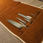 Chefs knife bag natural with knives
