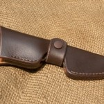 Leather slip knife sheath hartsook