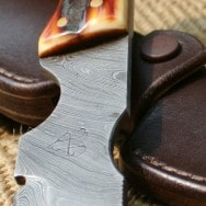 Leather Slip Knife Sheath with snap for Hartsook Skinner©