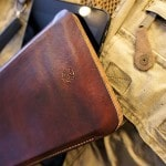 leather tablet sleeve closeup